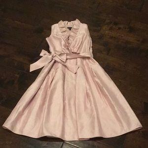 EUC blush ruffle collar cocktail dress!